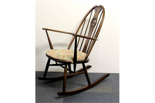 Remarkable An Ercol Swan Back Rocking Chair Ncnpc Chair Design For Home Ncnpcorg