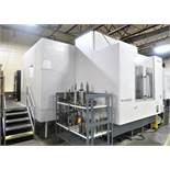 """OKUMA MILLAC 800VH 5-AXIS CNC MACHINING CENTER WITH 31.5"""" PALLETS, NEW 2008 2996 HOURS AEROSPACE PLT"""