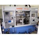 Takamaz Model XD-10I CNC twin Spindle Turning Center w/Gantry Loading System, S/N 300445, New 2006