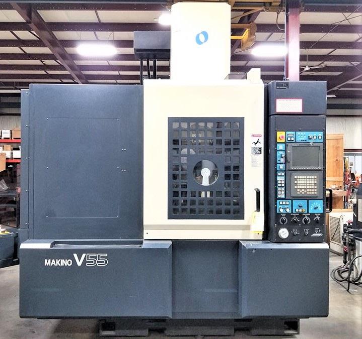 Makino V55 Precision 3-Axis CNC Vertical Machining Center, S/N 864, New 2000