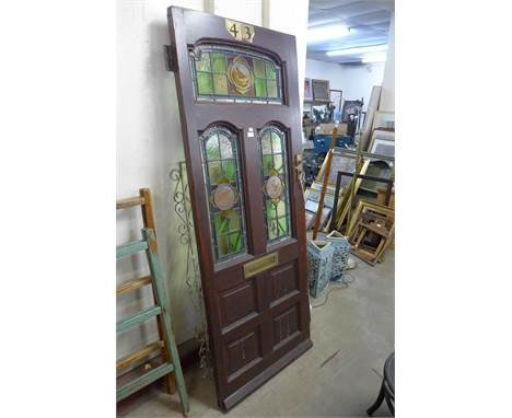 A stained glass door