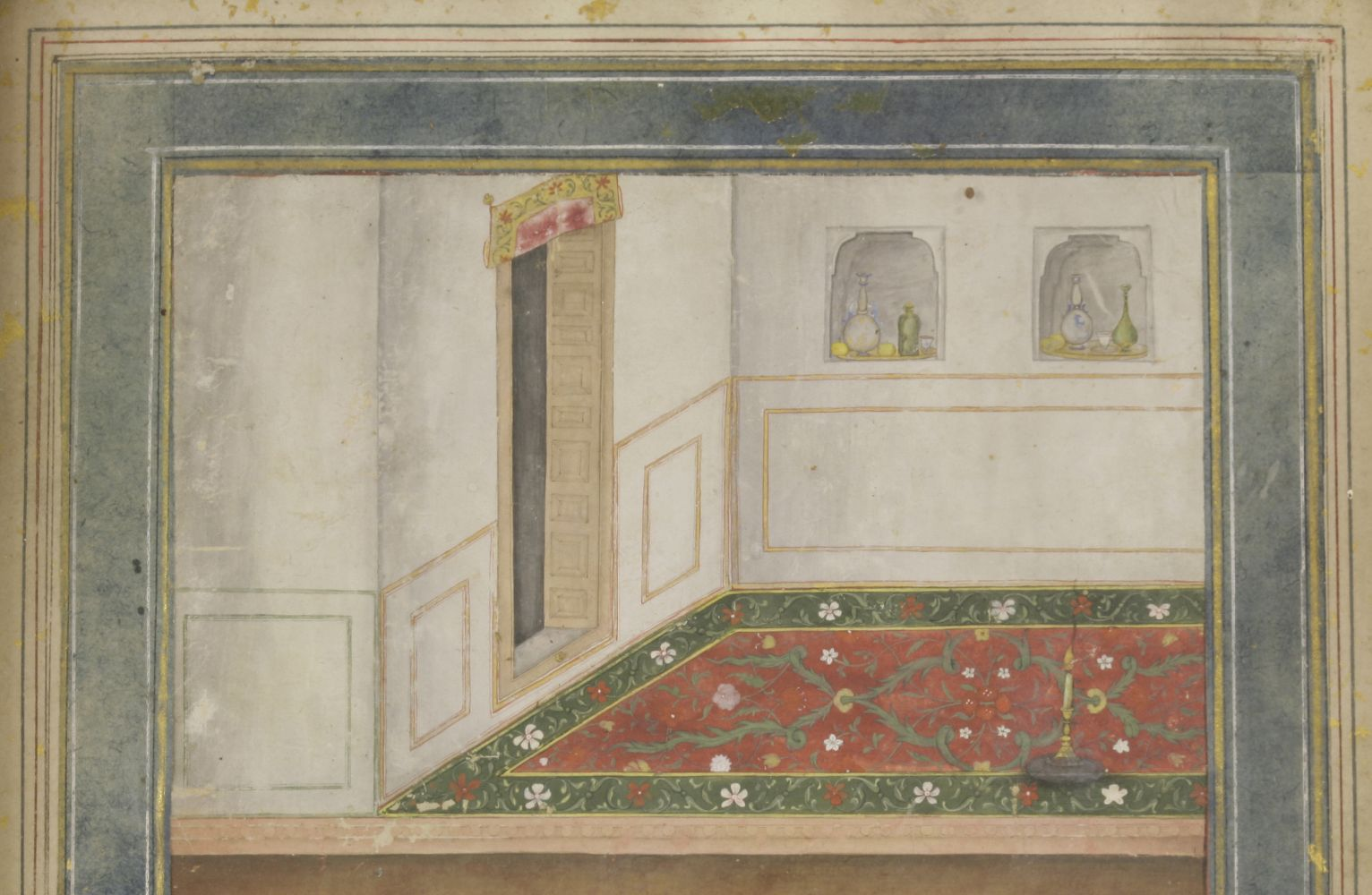 Lot 272 - 'Shah Jahan in the Time of Youth' ascribed to GovardhanIndia, Mughal, c.1630-1640opaque
