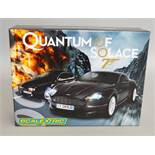 James Bond 007. A boxed Scalextric C2922A Quantum Of Solace set containing two cars, an Aston