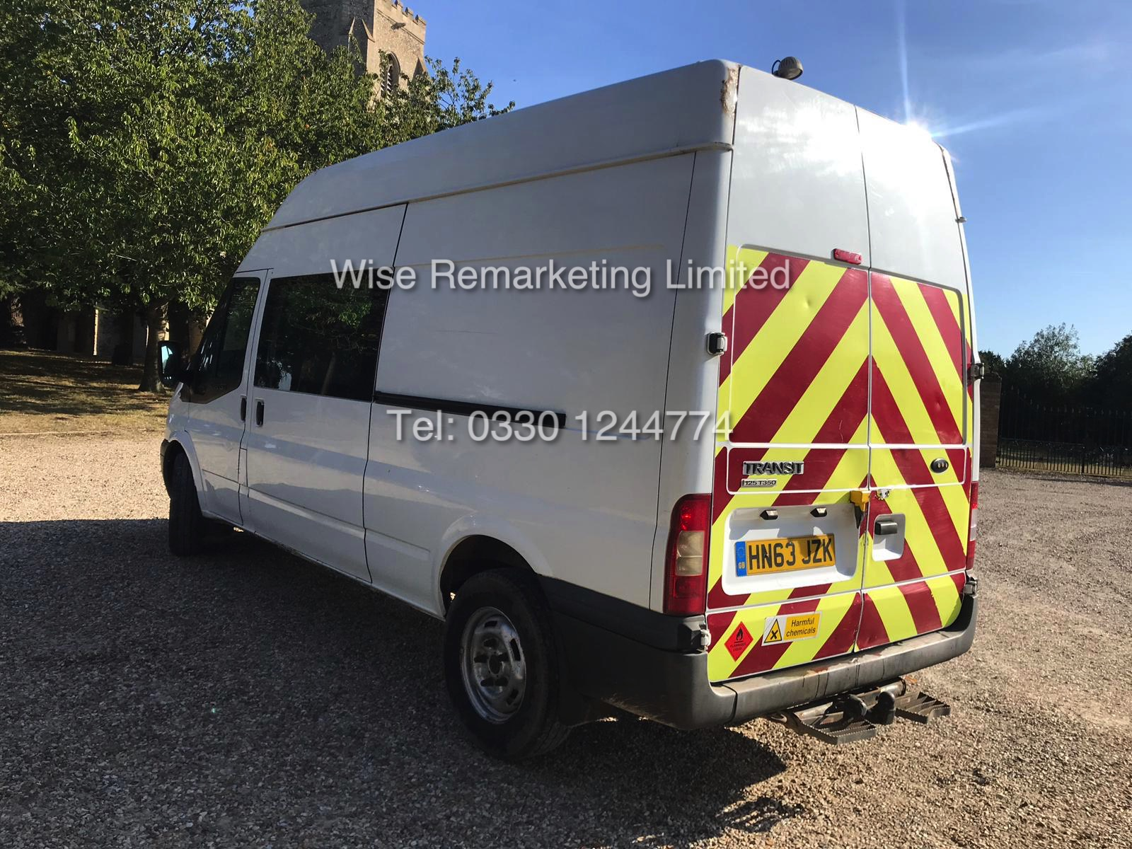 FORD TRANSIT 2.2Tdci T350 RWD *125 BHP* 6 SEATER MESSING UNIT (2014 MODEL) 1 KEEPER FROM NEW - Image 4 of 13