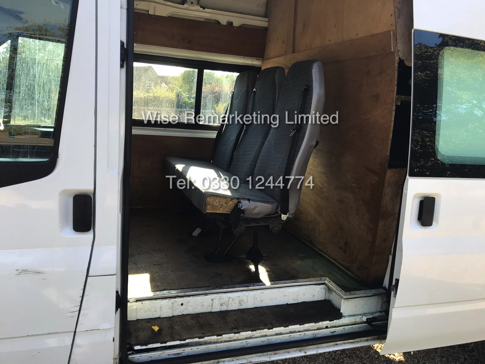FORD TRANSIT 2.2Tdci T350 RWD *125 BHP* 6 SEATER MESSING UNIT (2014 MODEL) 1 KEEPER FROM NEW - Image 7 of 13
