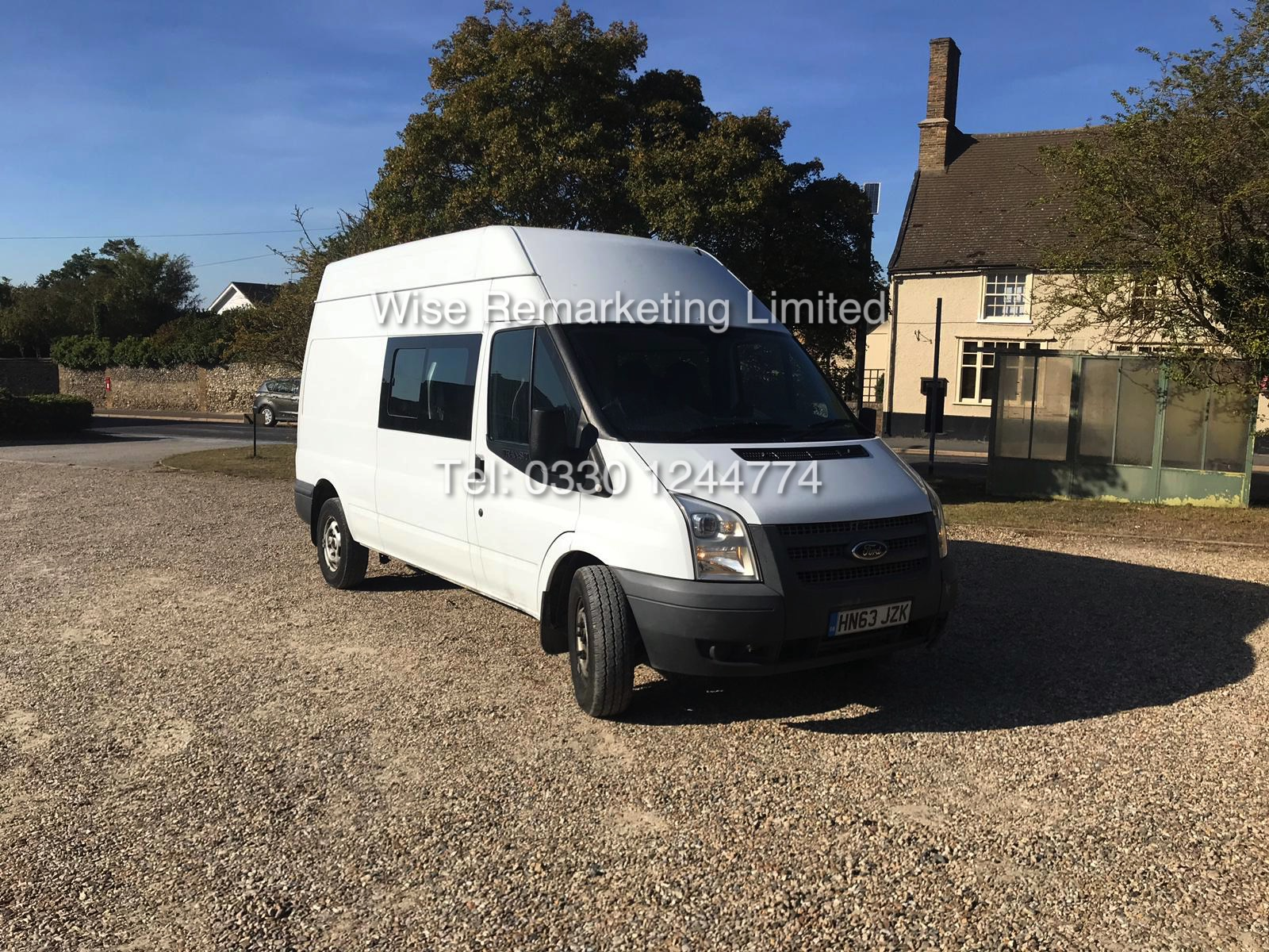 FORD TRANSIT 2.2Tdci T350 RWD *125 BHP* 6 SEATER MESSING UNIT (2014 MODEL) 1 KEEPER FROM NEW