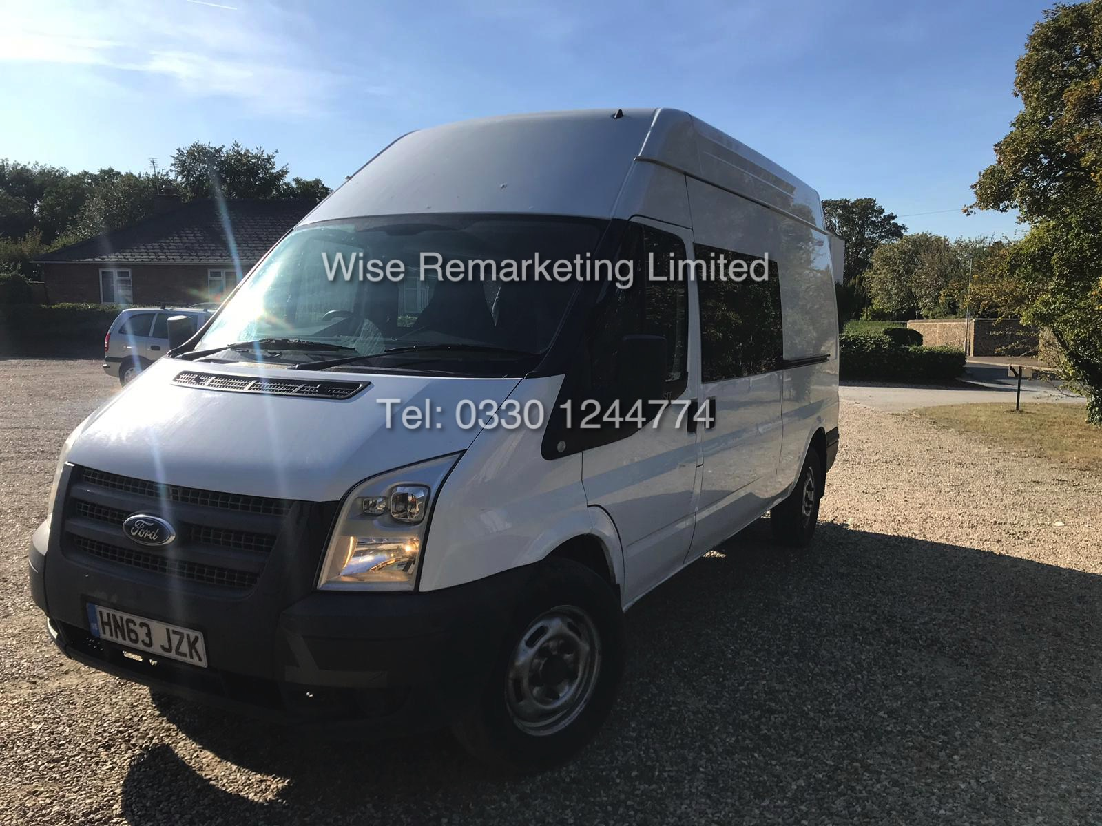 FORD TRANSIT 2.2Tdci T350 RWD *125 BHP* 6 SEATER MESSING UNIT (2014 MODEL) 1 KEEPER FROM NEW - Image 3 of 13