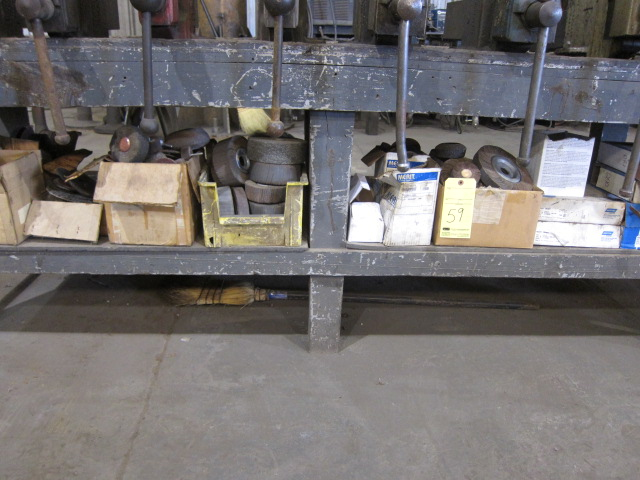 Lot 59 - LOT OF ABRASIVES, assorted (under one bench)