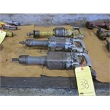 LOT OF PNEUMATIC STRAIGHT GRINDERS (3), assorted