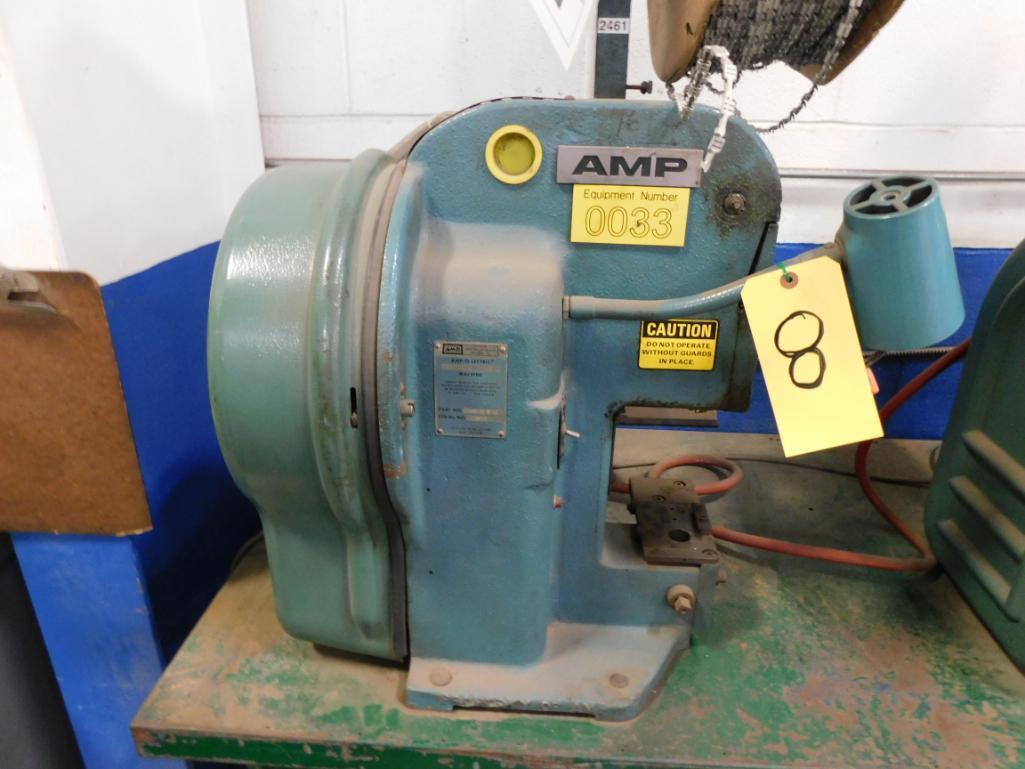 Lot 8 - BENCH TOP TERMINAL MACHINE, AMP 565435-5 AC MDL. K, no applicators, S/N 125909