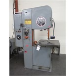 "DoAll 2013-20 20"" Vertical Band Saw s/n 377-80535 w/ Blade Welder, 0-5200 Dial FPM, 26"" x 26"""