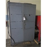 Steeel Cabinet w/ Misc Welding and Shop Supplies