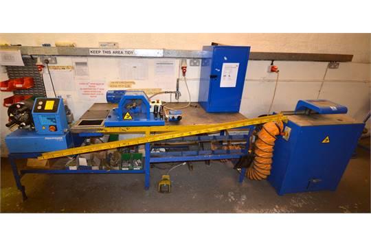 Finn power P20 hydraulic hose crimping machine with SFF2E Hydralok