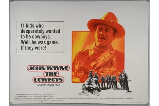 Two John Wayne British Quad film posters, Big Jake (1971) & The ...