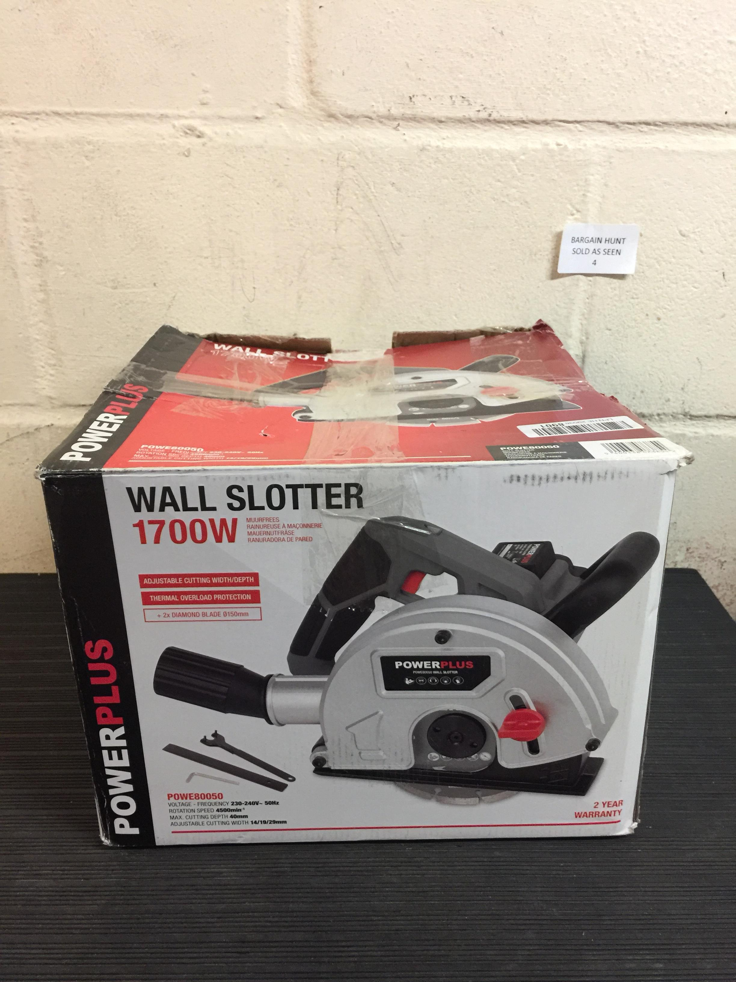 Lot 4 - Powerplus 150mm 1700w 230v Wall Slotter Chaser RRP £100