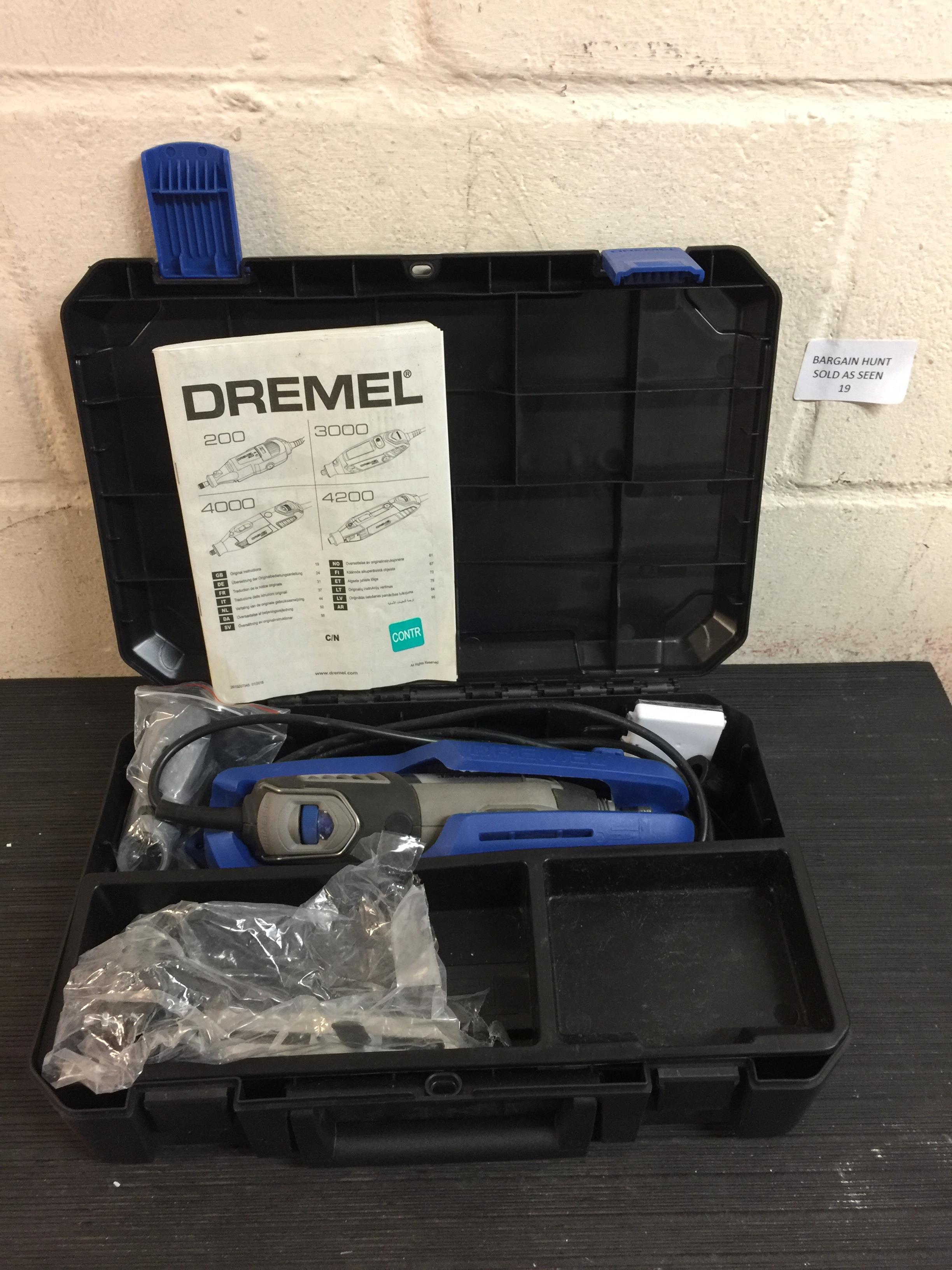 Lot 19 - Dremel 4000 Corded Multitool RRP £130