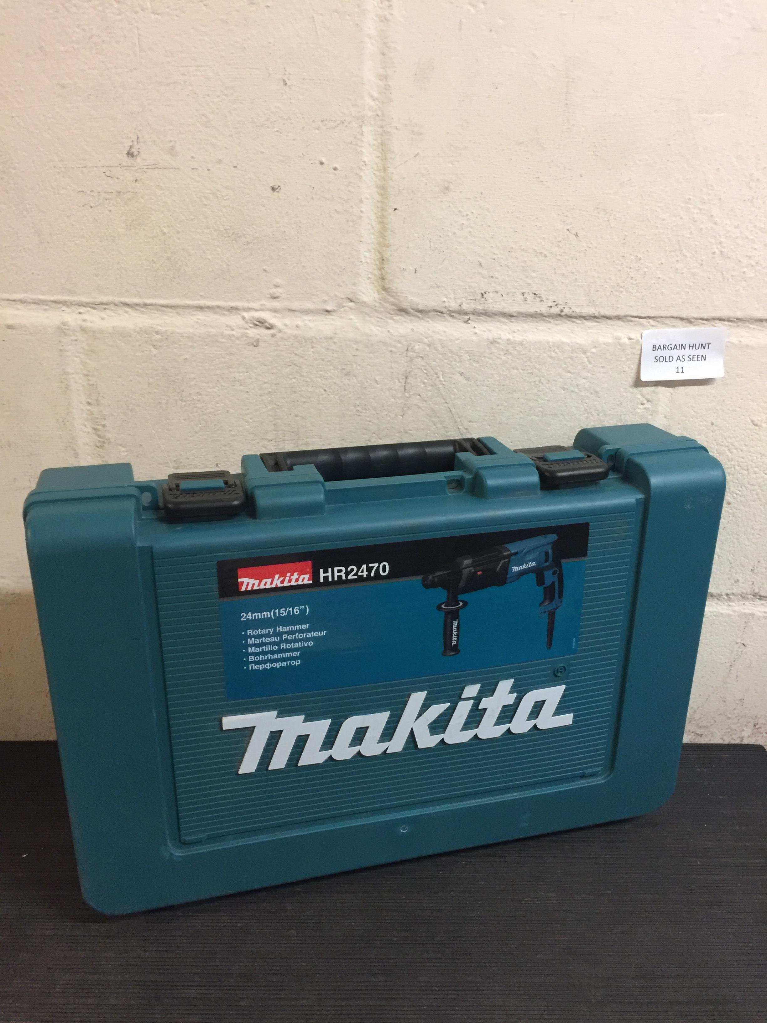 Lot 11 - Makita HR2470X Rotary Hammer Drill (no power) RRP £119.99