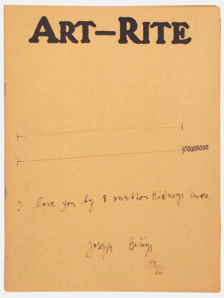 Lot 23 - Joseph BeuysKrefeld 1921 - 1986 DüsseldorfArt-Rite. Tintenstiftzeichnung. 1981. 27,7 x 20,9 cm.