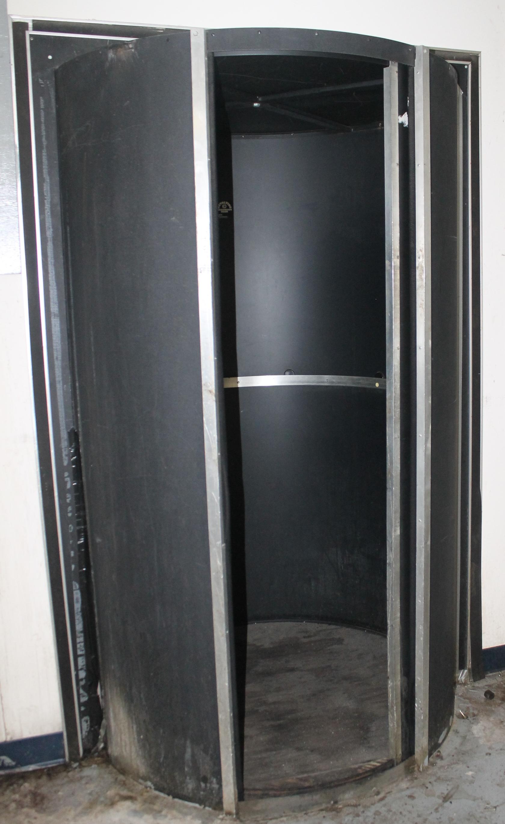 Lot 149 - 3-WAY REVOLVING DARKROOM DOOR & 3-WAY REVOLVING DARKROOM DOOR WALL OPENING SIZE: 49.5