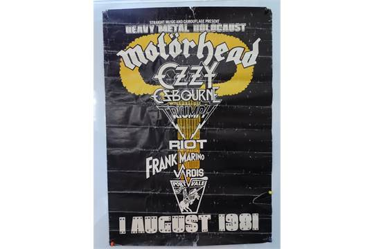 Music Heavy Metal Holocaust 1981 Promotional Concert Poster For Concert Held At The Port Val
