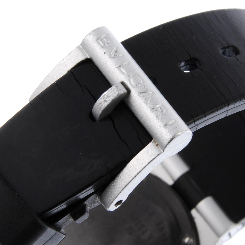 BULGARI - a mid-size Diagono Aluminium wrist watch. - Bild 2 aus 4
