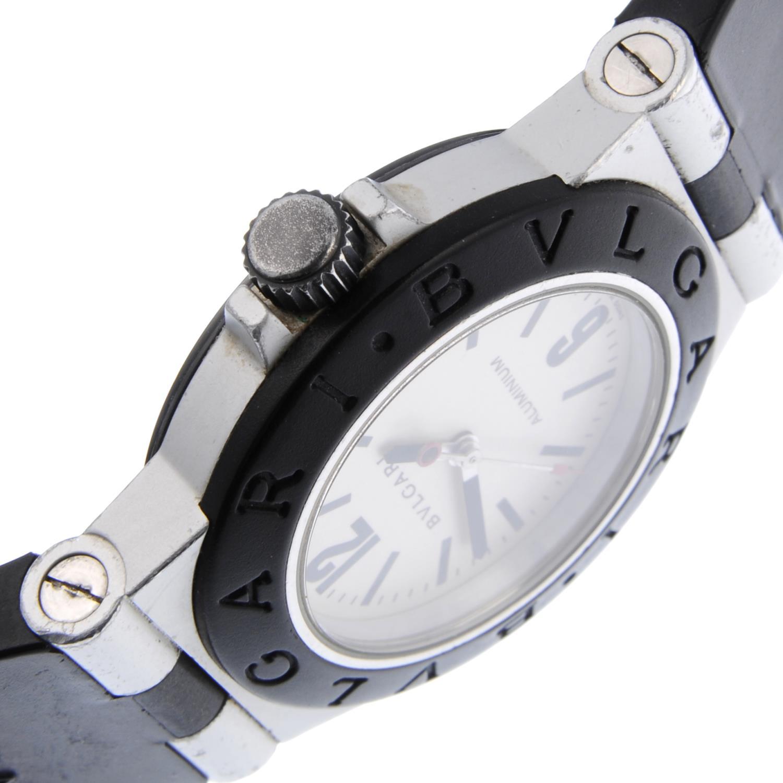 BULGARI - a mid-size Diagono Aluminium wrist watch. - Bild 4 aus 4