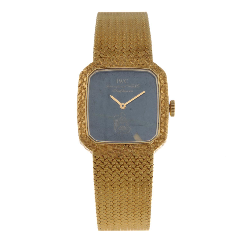 IWC - a lady's bracelet watch.