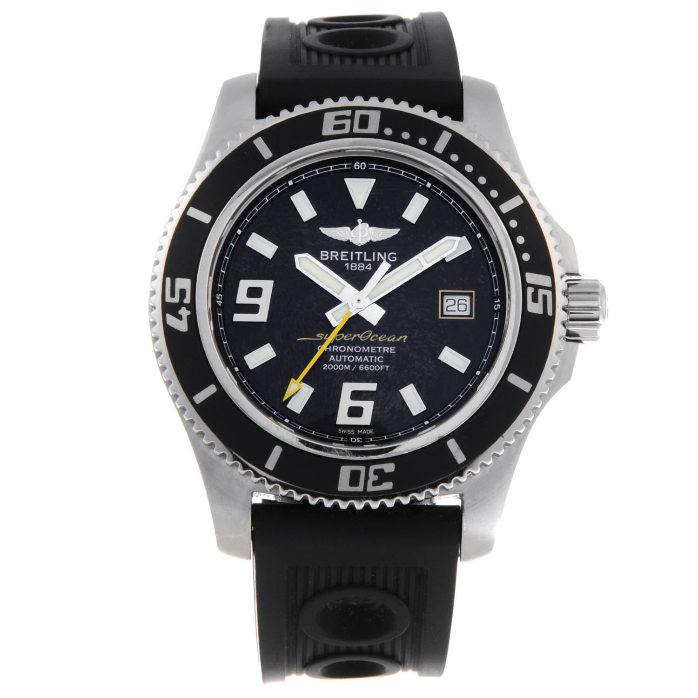 BREITLING - a gentleman's SuperOcean 44 wrist watch.
