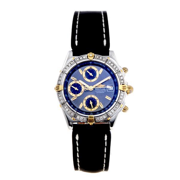BREITLING - a gentleman's Chronomat chronograph wrist watch.