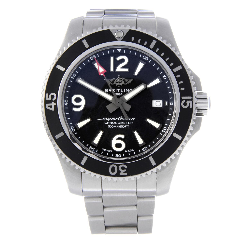 BREITLING - a gentleman's SuperOcean 42 bracelet watch.