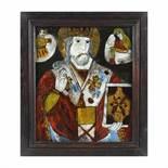 """""""Saint Nicholas"""", icon on glass, attributed to painter Petru Prodan, Maieri, Alba Iulia, late 19th c"""