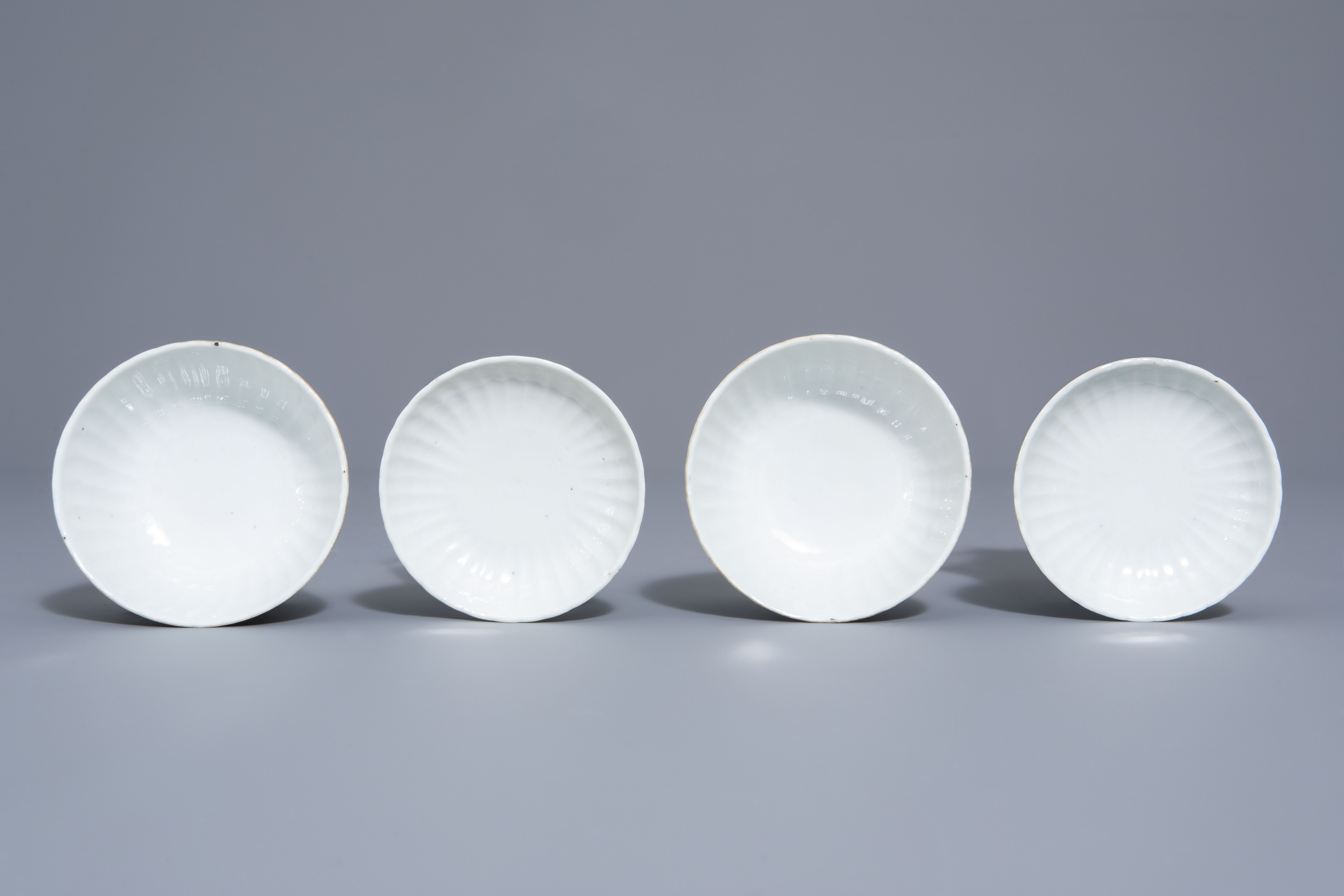 A Chinese seven-piece qianjiang cai tea service with figurative design, 19th/20th C. - Image 12 of 19