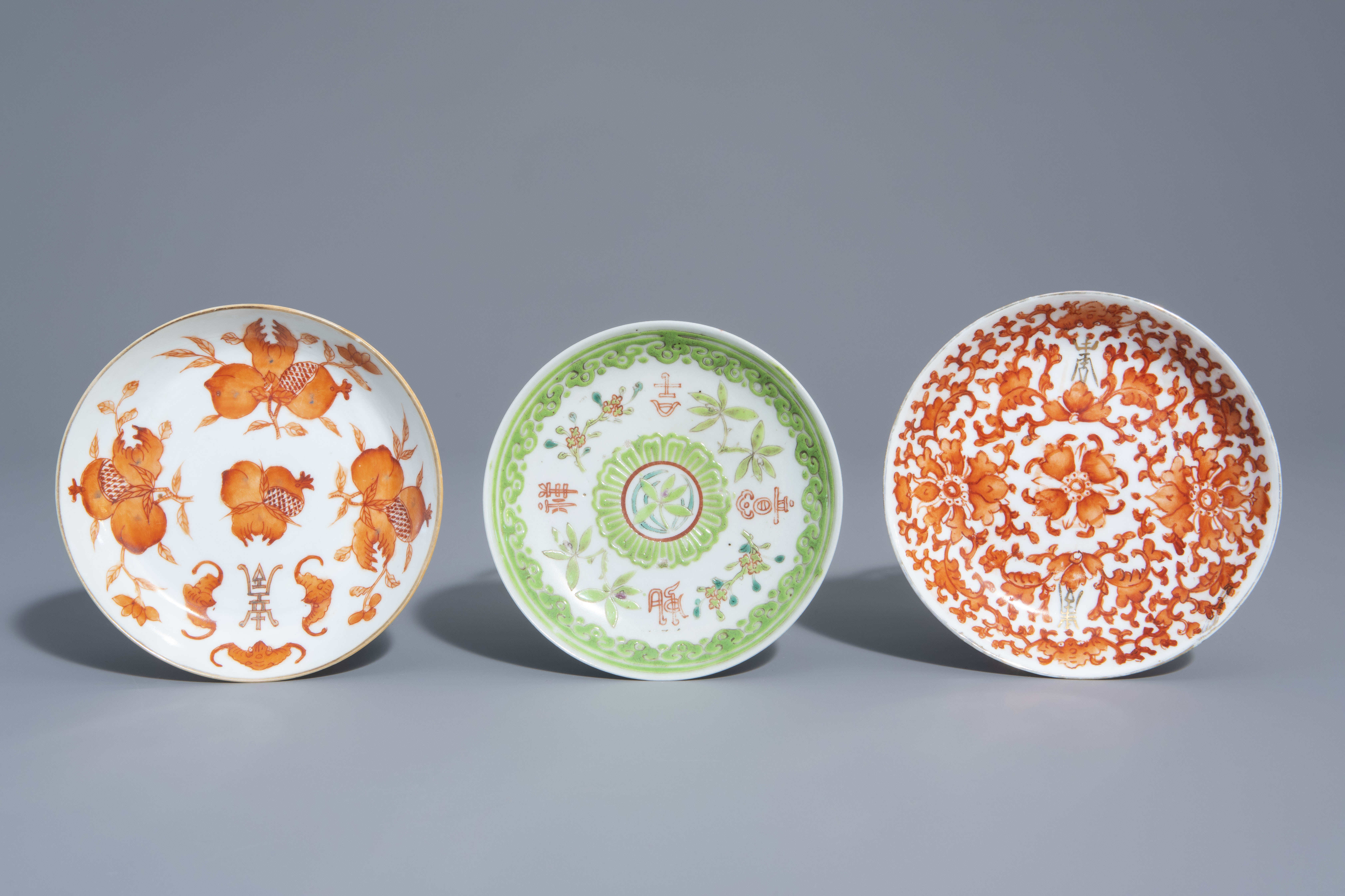 A varied collection of Chinese qianjiang cai and famille rose porcelain, 19th/20th C. - Image 2 of 11