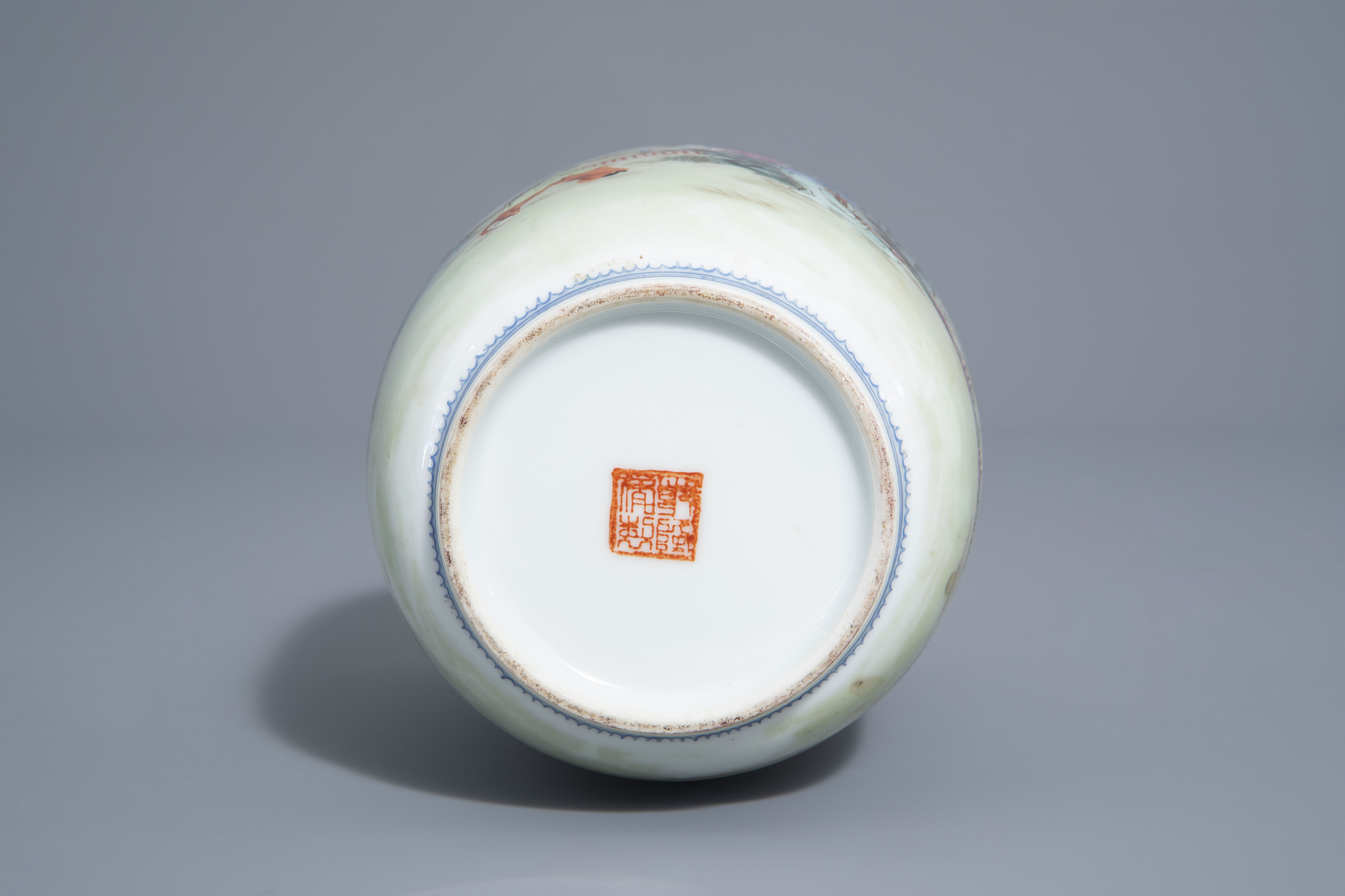 A Chinese famille rose eggshell vase and six 'Wu Shuang Pu' covers, 19th/20th C. - Image 13 of 18