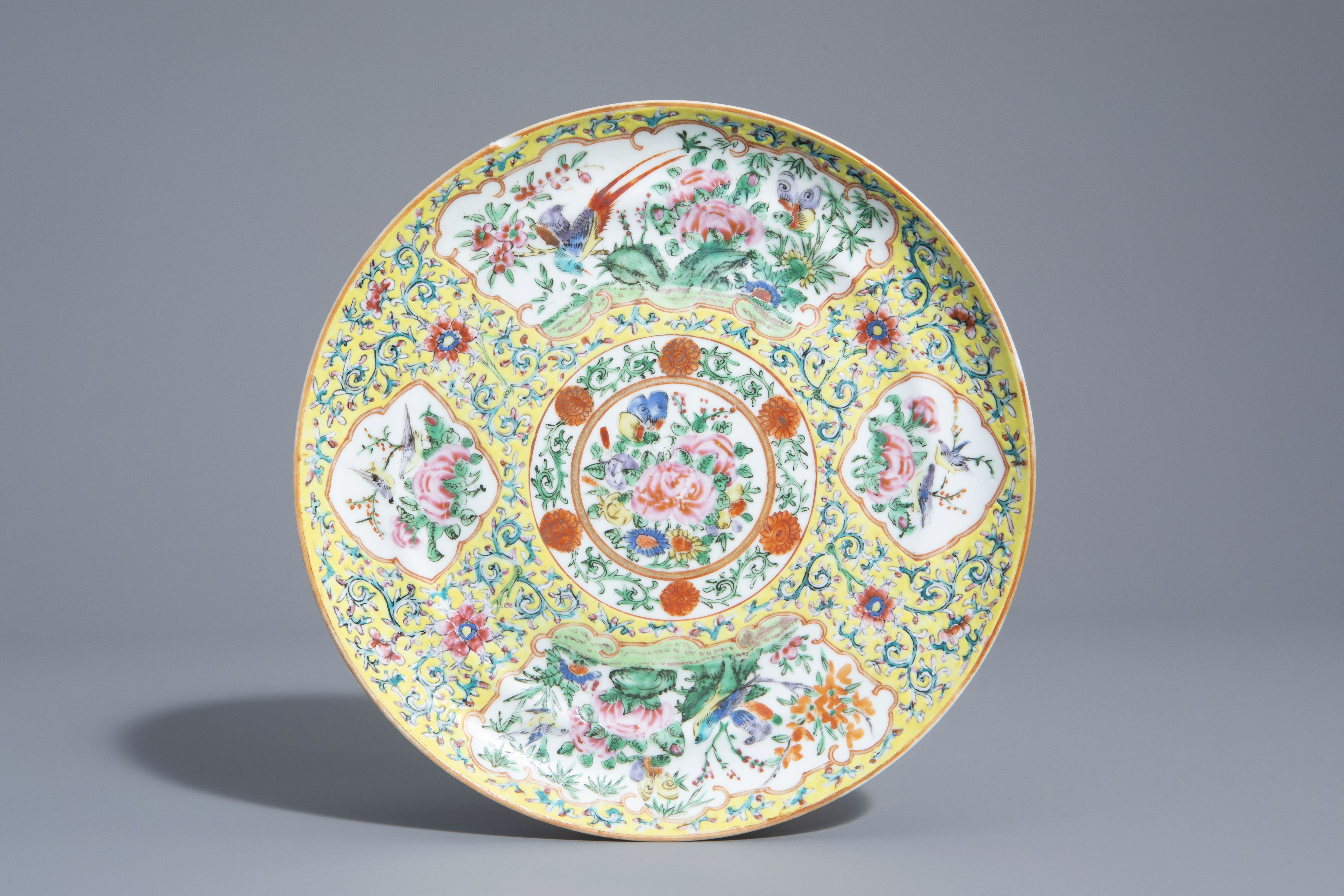 A varied collection of Chinese qianjiang cai and famille rose porcelain, 19th/20th C. - Image 4 of 11