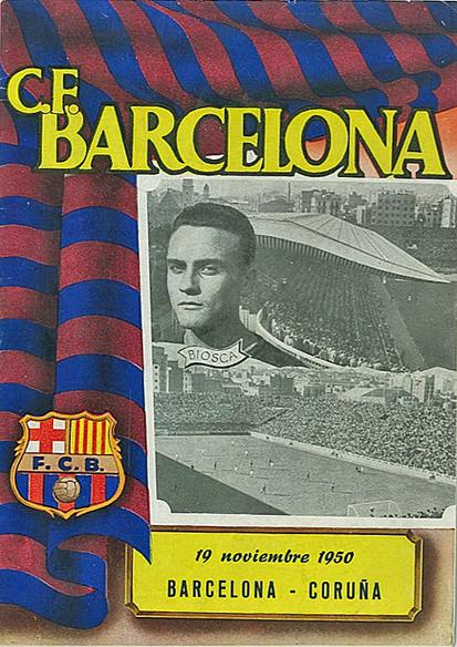 FOOTBALL, Barcelona home programmes, 1950/1, v. Coruna, Valladolid, Celta & Malaga, G to VG, 4 (