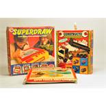 Group of retro / vintage / collectable games including superdraw and two others. Appear complete but