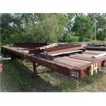 APPROX. 40' FLAT BED YARD TRAILER, NO. 14 (NO TITLE)