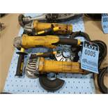 "4-1/2"" DeWALT RIGHT ANGLE ELECTRIC GRINDERS"