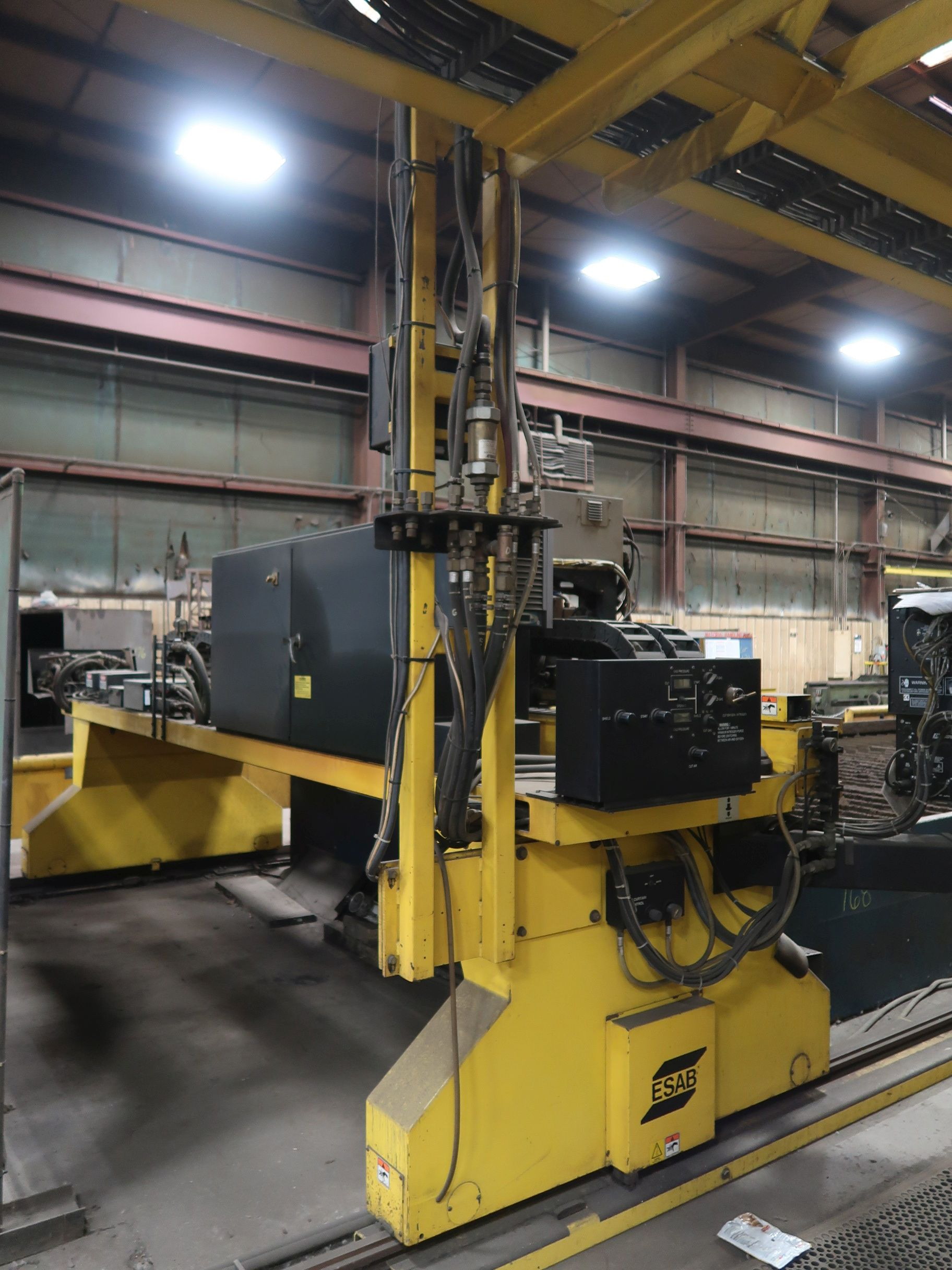 12' X 40' ESAB MODEL AVENGER 1-12 VISION PLASMA TABLE W/ BURNY 10 CONTROL; S/N 0560986386, UPDATED - Image 12 of 23