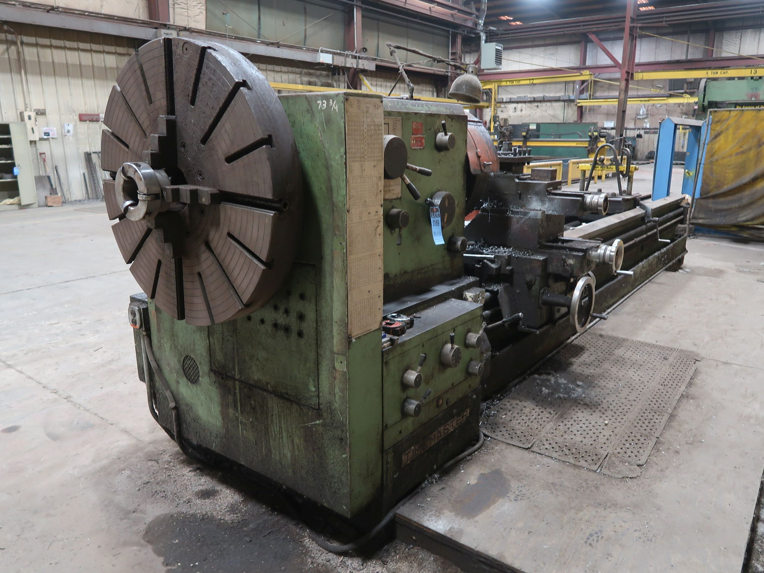 """40"""" X 160"""" GRUTZPE TIMEMASTER MODEL 4000/500 DOUBLE CHUCK ENGINE LATHE; SPEEDS TO 500 RPM, APPROX. - Image 4 of 14"""