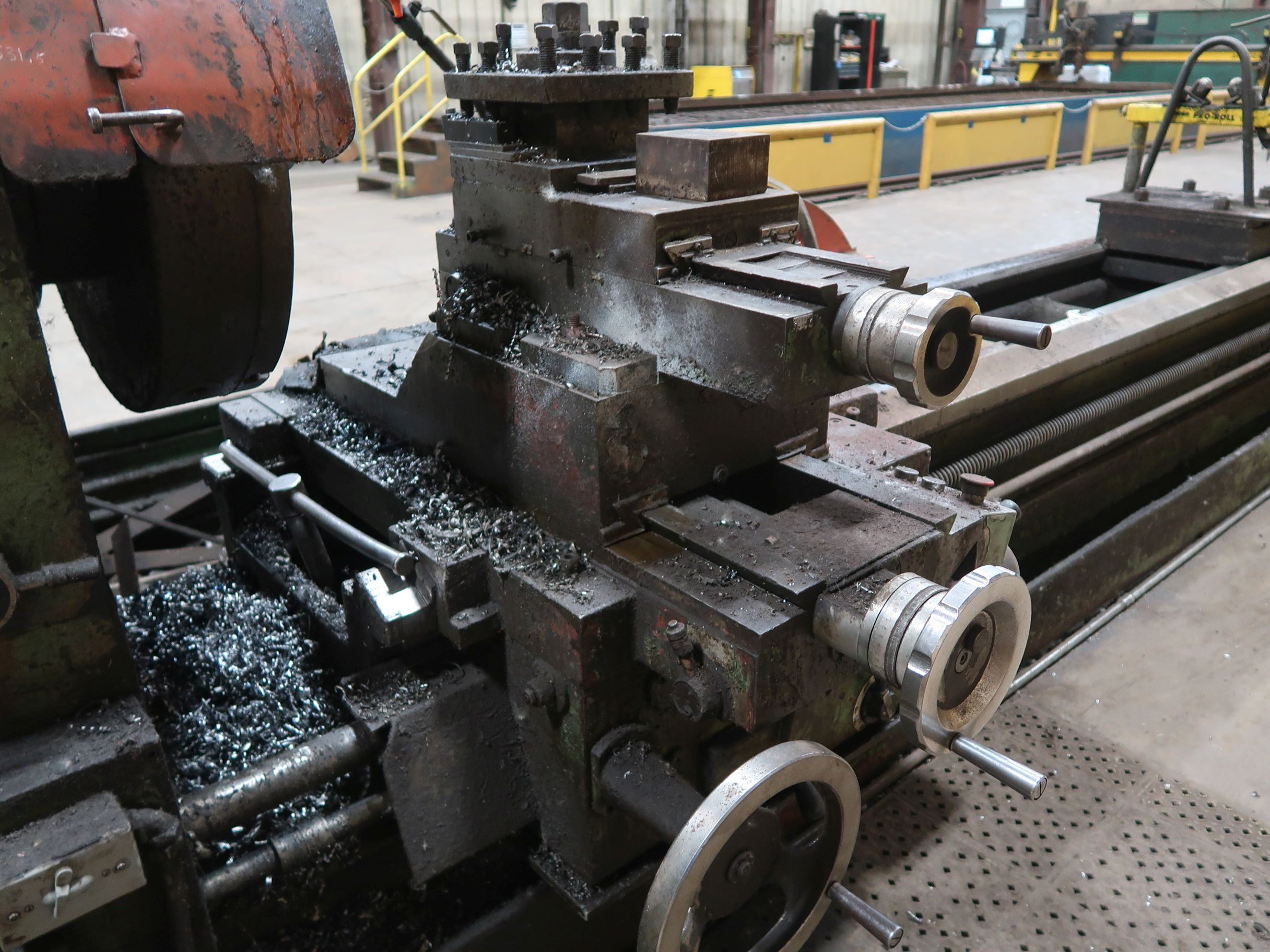"""40"""" X 160"""" GRUTZPE TIMEMASTER MODEL 4000/500 DOUBLE CHUCK ENGINE LATHE; SPEEDS TO 500 RPM, APPROX. - Image 10 of 14"""
