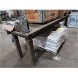 "29"" X 1/2"" X 34"" OVERALL HEIGHT X 3/4"" THICK STEEL TOP PLATE HEAVY DUTY STEEL FRAME BENCH"