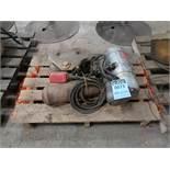 1 TON CAP LODESTAR MODEL H PENDENT CONTROL CHAIN HOIST W/ TROLLEY