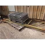 "SECTION 42"" X 92"" X 144"" HIGH ADJUSTABLE BEAM WIRE DECKING PALLET RACK"