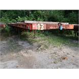 40' APPROX. FLAT BED YARD TRAILER, NO. 13 (NO TITLE)