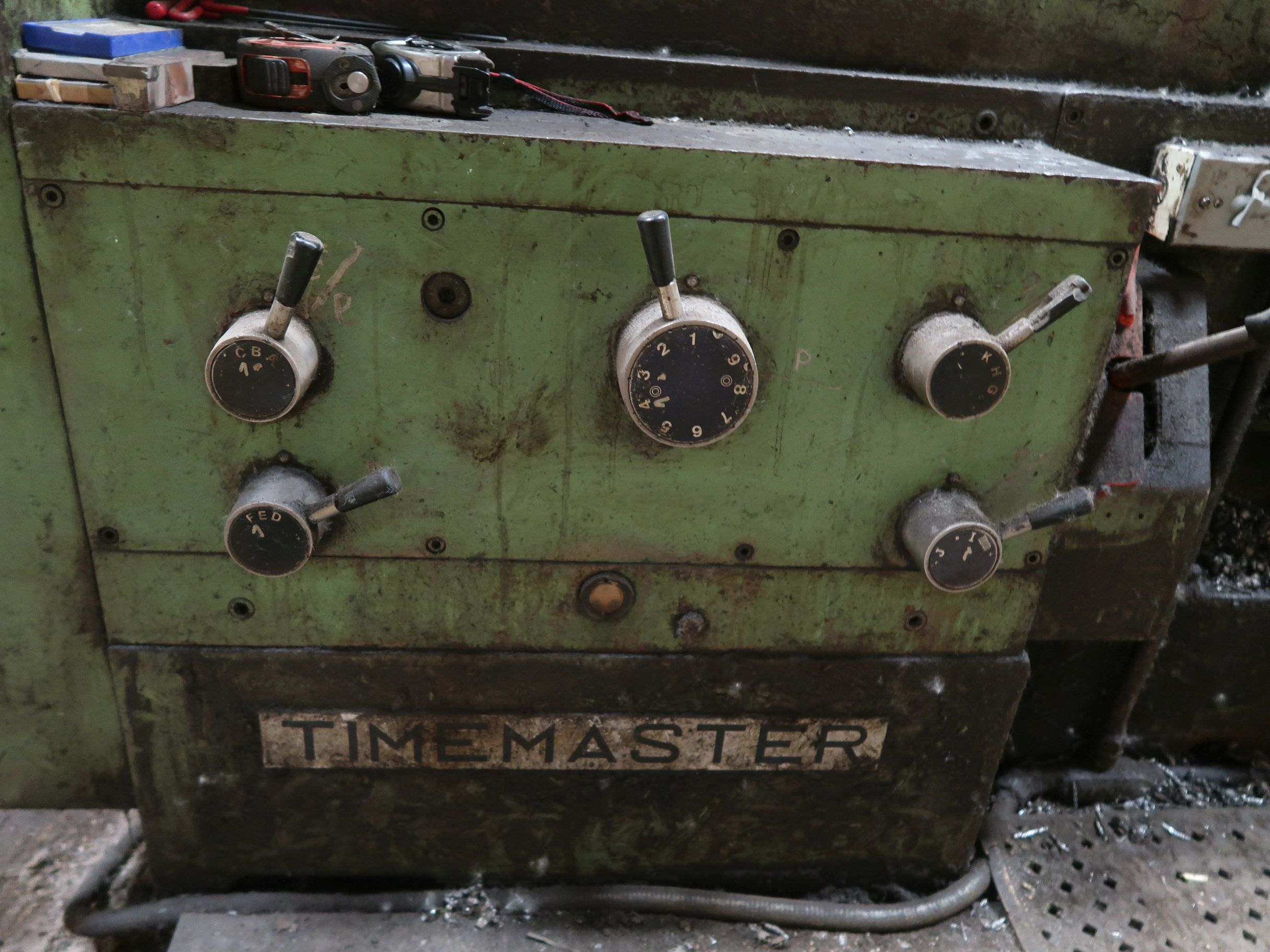 """40"""" X 160"""" GRUTZPE TIMEMASTER MODEL 4000/500 DOUBLE CHUCK ENGINE LATHE; SPEEDS TO 500 RPM, APPROX. - Image 7 of 14"""