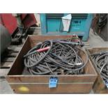 (LOT) 3-SKIDS WELDING SUPPLIES, (2) W/ MIG GUNS & LEADS & (1) W/ MISC.