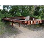40' APPROX. FLAT BED YARD TRAILER, NO. 3 (NO TITLE)
