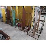 (LOT) (6) TORCH CARTS, (1) W/ HOSE & REGULATOR